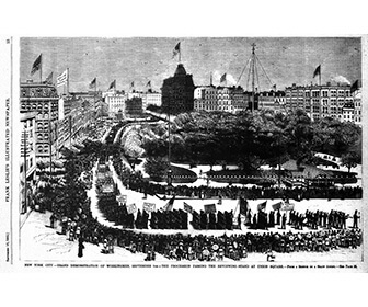 First American Labor parade held in New York City on September 5, 1882