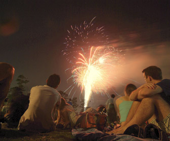 4th of July Fireworks, Miller Outdoor Theatre, Houston, Texas