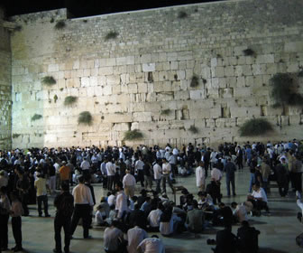 Western Wailing Wall at Night